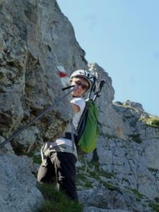 Bergsteigen Konzentration